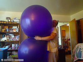 huge balloon squeeze and hug or  too big by billoon45