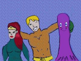 Aquaman and Friends by ZakkuStrong