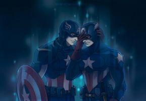 The Avengers-two captains by Athew