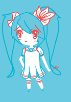 Red+White+Blue Miku - Day 1 by MidnightSukioma
