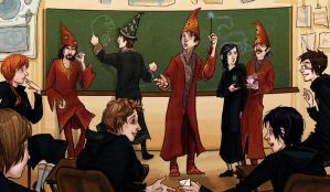 Beatles in Hogwarts by lorainesammy
