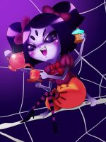 Muffet will drink my tears by chacrawarrior
