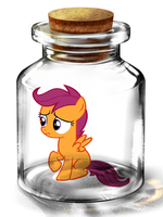 Bottled Up: Scootaloo by Songbreeze741