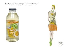 Snapple's White Nectarine Tea by TheeFashionista