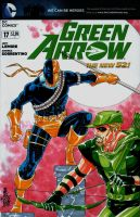Green Arrow v Deathstroke by wardogs101