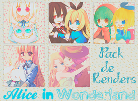 Alice In Wonderland Renders Pack by Arriiety