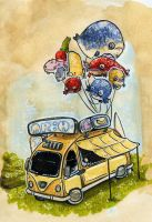 Mr. H Fish Balloon Van by atomier