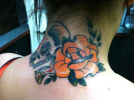 sugar skull and rose by TorieLarson