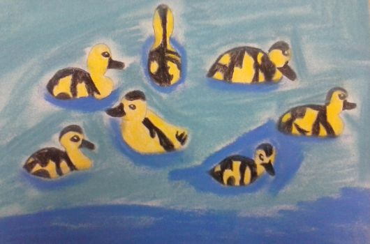 Ducks in a pond by BlueMoonScorpio