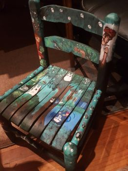 Studio ghibli themed chair front by Auruka-Sunshine