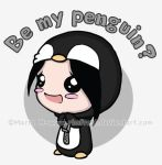 T-Shirt Design - Be My Penguin by Rimfrost