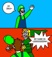 Just Luigi trying to be nice by mother3Flint