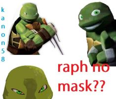 Raphael No Mask? by Kanon58