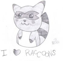 Raccoons by LeahEvilSoldier