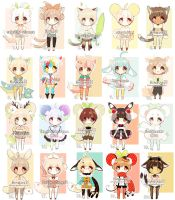 ::kemonomimi babus:: SET PRICE [CLOSED#] by Hinausa