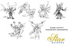 Star Maiden monster concepts by Dangerman-1973