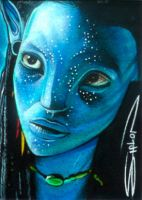 Avatar Neytiri Sketch Card by RandySiplon