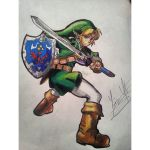 Link from The legend of zelda Drawing by AceArtz1001