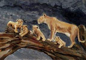 Lions Family by Vinkerlid