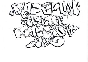 My 1st graffiti alphabet version 1.0 by toxoner