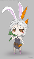 Battle Bunny Riven Chibi by kyoar