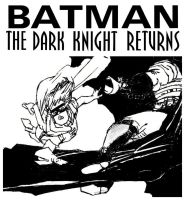 Batman: The Dark Knight Returns and Robin slips by StevenEly