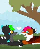 Its snowing even though its warm outside by Skybers