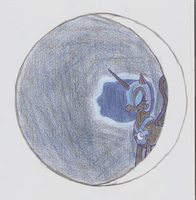 MLP Freehand Art - Nightmare Moon on Moon by MarkusRysownikus