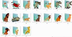 Lion King Folder Icons by Ginokami6