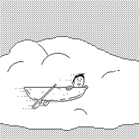 floating in the clouds by glue