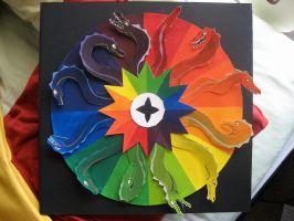 twelve headed color wheel by wrathofthepuppy