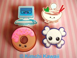 Acrylic Pins - January Set by kimchikawaii