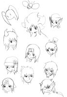 Fimiliar Faces by Strider-Tina