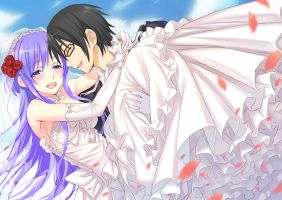 Aeon and Mizore: Wedding Day by blakereed92