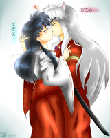 InuYasha and Kagome- I'll be always with you by LiaMenietowLove