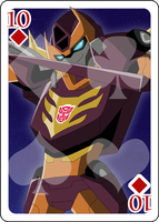 10 of Diamonds Rodimus Prime by Shioji-san