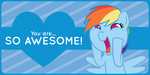 Rainbow Dash Valentine's Day Card by Happbee
