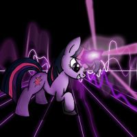 Twilight Lazor Attack! by Novacaelum