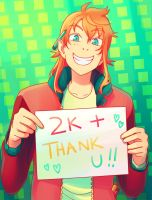 Thanks 2k Readers by Flipfloppery