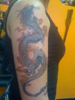 Dragon Tattoo by evAngelic-trAnce