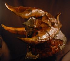 Dragonscale Helm Rear view by selever2000