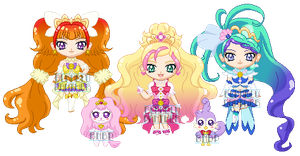 ChibiP: Go! Princess Precure by blknblupanther