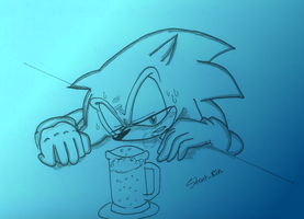 Hangover Sonic by Silent-Rin