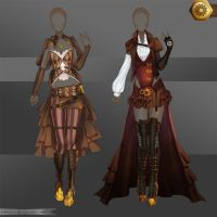 [Closed]Adoptable Outfit (Steampunk 1-2) by Anneysa