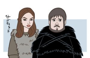 Game of Thrones - Gilly and Samwell by howardshum