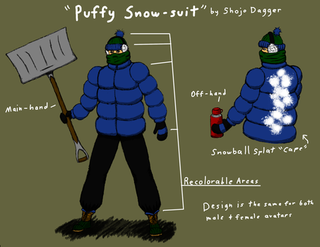 Puffy Snow-suit by Shojo-Dagger
