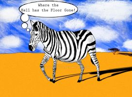 Zebras can't see orange by Yokocapolo