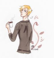 APH Nor with coffee by AnnHolland
