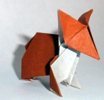 Origami Corgi by applescruff
