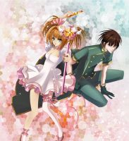 Sakura and Syaoran by SnowLady7